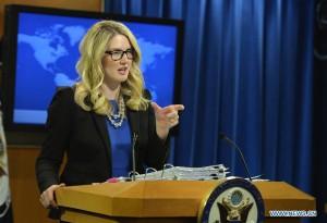 Marie Harf, portavoz del DEpartamento de Estado.